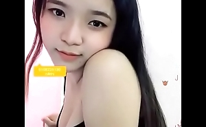 Cutie asian teen show out of reach of webcam