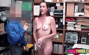 Sofie undresses down be advantageous to horny officer to bang her previous to found guilty of stealing