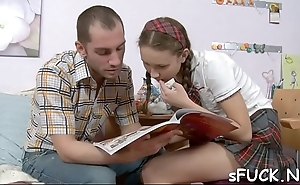 Studying and having it away is simple with a hot, teen ally