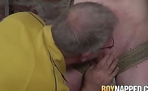 Inner weirdo torments his young lackey coupled with blowjob