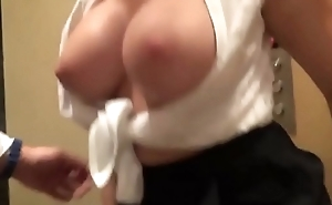 amazing german milf with big knockers gets fucked in elevator