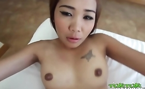Bald Bangkok fur pie gives horny migrant a tight ride until creampie - ThaiBitches.com