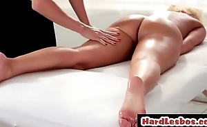 Lesbian masseuse pleasuring her client - Britney Amber &amp_ Tanya Tate